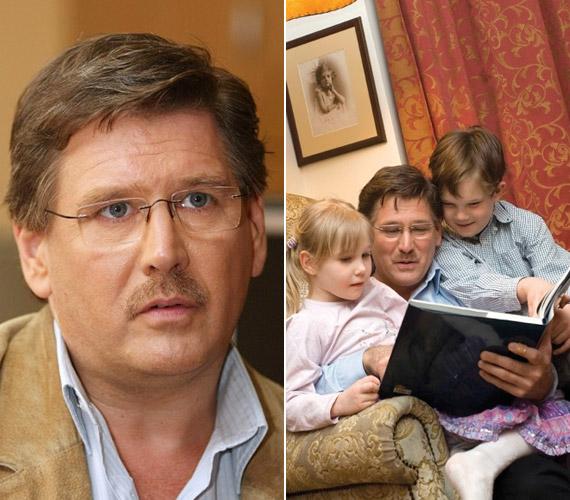 A színész életében a hivatás mellett a családnak is fontos szerep jut: feleségével két gyermekük van.