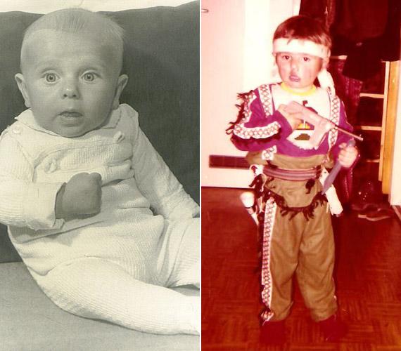Imi fekete-fehér fotót keresett gyermekkorából, Tomi már színesben mutatta meg kiskori önmagát.