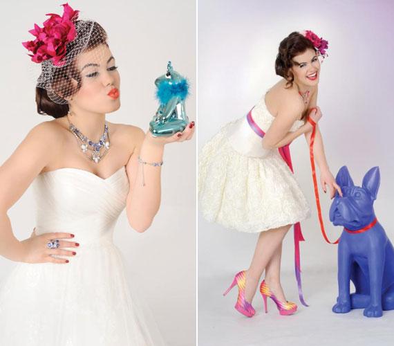 A 2012-es X-Faktor egyik üdvöskéjéről, Csobot Adélról vidám tavaszi fotósorozat készült az Esküvő Classic magazinba.