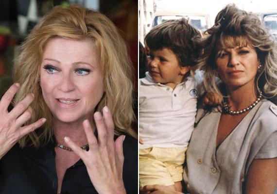 Az 59 éves Frajt Edit alakította a Szomszédokban a kozmetikus Julit. A sorozat készítői terhességét is beleírták a sorozatba, majd miután megszületett Franciska, ő volt a sorozatbeli lánya, Flóra - jobb oldali kép.