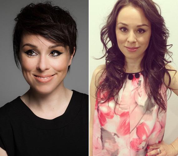 Kozma Orsi énekesnő kilenc hónappal ikerlányai születése után, áprilisban döntött úgy, hogy megválik derékig érő tincseitől - egy rövid, kissé tépett, bubis frizurára váltott.