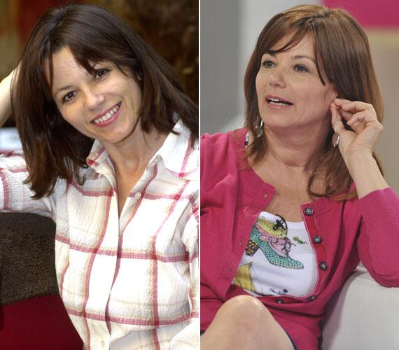 A két fotó között 10 év telt el: a bal oldali 2003 októberében, a jobb oldali 2013. június 4-én készült a Ridikül című műsorban.