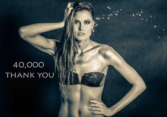 A 24 éves úszó olimpikon ezzel a felvétellel köszönte meg a Facebookon a negyven ezredik lájkot.