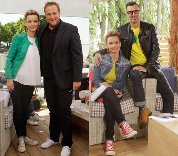 A Révfülöpről jelentkező Balatoni Nyár című műsorban egy kis vagányság és lazaság is megengedett - ebbe a tornacipő is belefér.