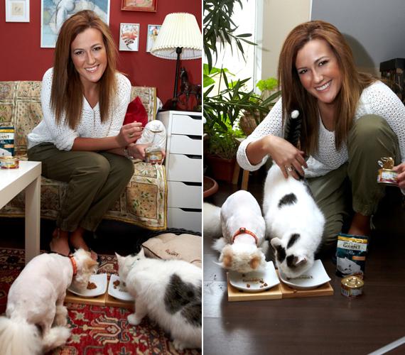 Janicsák Veca a két cicája, Monci és Mihályka nélkül már el sem tudná képzelni az életét.