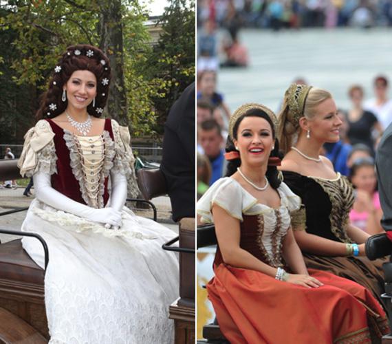 Vágó Bernadett az Elisabeth című musicalben viselt kosztümjét, Sissi koronázási ruháját öltötte magára. Öltözéke és ékszerei is hű másai voltak azoknak, amelyeket a magyarok kedvenc királynéja hordott. A jelmezt Velich Rita tervezte korabeli festmények és fotók alapján.