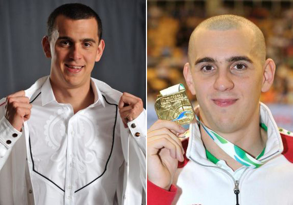 Cseh László olimpikon magyar úszó is hivatása miatt látható időnként tarkopaszon.