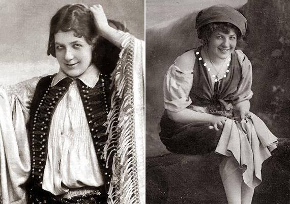 Fedák Sári 1879. október 26-án látta meg a napvilágot és 1955. május 5-én hunyta le örökre a szemét. Molnár Ferenc író második felesége az egyik legismertebb és legsikeresebb színésznő, énekesnő-primadonna volt. Bal oldalon híres szerepében, Kacsóh Pongrác János vitézeként.