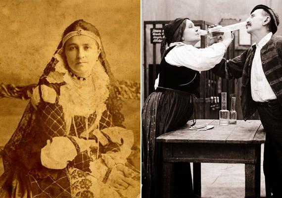 Jászai Mari 1850. február 24-én jött világra és 1926. október 5-én hunyt el. Jobb oldalon az Az Oscar-díjas Kertész Mihály némafilmjében, A toloncban. Ez a színészóriás egyetlen fennmaradt filmje.