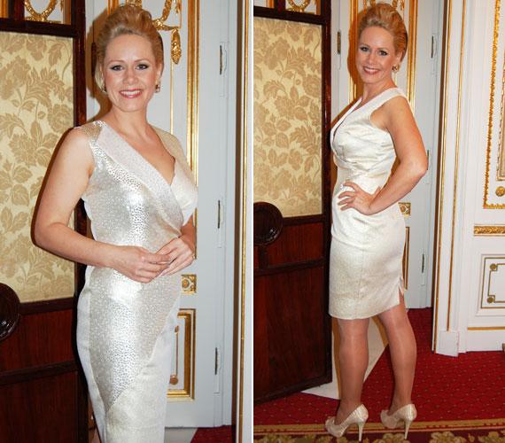 Az MTVA csinos műsorvezetője örömmel viseli a LACCA kreációit, mert azok a nőies idomokkal megáldott hölgyeken is remekül állnak.