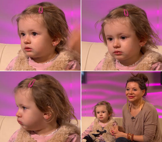 Maja 2011. december 29-én jött világra, a kislány mára már bölcsis.