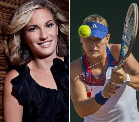 A szintén 20 éves Babos Tímea teniszezőnőt nemcsak a pályán, de már divatbemutatókon is megcsodálhatták rajongói.