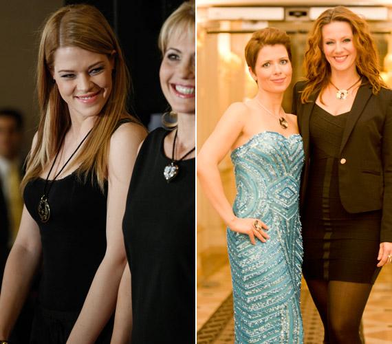 Muri Enikő énekesnő, színésznő Bényi Ildikóval, a Kívánságkosár műsorvezetőjével, valamint György-Horváth Zsuzsa műsorvezető Polyák Lilla színésznővel.