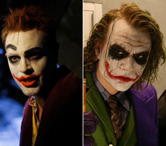 Karalyos Gábor maszkja nagyon hasonlít Heath Ledgeréhez, aki a 2008-as Batman részben, A sötét lovagban Jokert alakította.