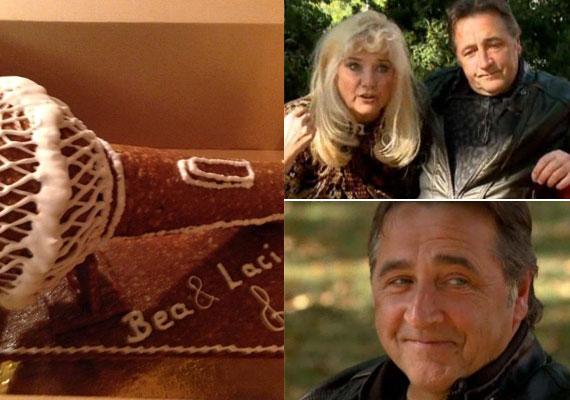 Karda Bea több mint tíz évvel ezelőtt talált rá Lacira, akivel idén március elején mondták ki a boldogító igent. Nászajándék gyanánt egyik barátjuktól többek között ezt a frappáns, mikrofont ábrázoló tortát kapták.