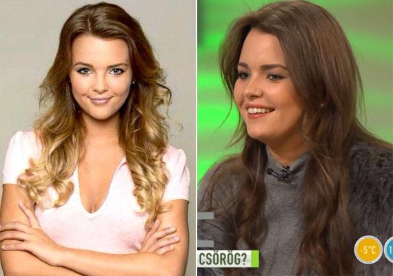 Melyik szín áll jobban Kárpáti Rebekának? A gyönyörű színésznő régi, szőke hajjal, illetve barnán.