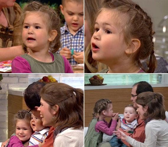 A három és fél éves Luca eleven kislány, ha ébren van, mellette a Kerekes családban soha nincs csend. A cserfes kislány néha édesapját és a műsorvezetőket is alig hagyta szóhoz jutni a Család-barátban.