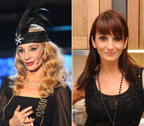 Keresztes Ildikó az amerikai énekesnő, Fergie bőrében. Az 50 éves sztár szőke hajjal egy évtizedet is letagadhatna. A vörös sem állt neki rosszul a Vacsoracsata 2010-es adásában, de mi a világosabb hajszínre szavaznánk.