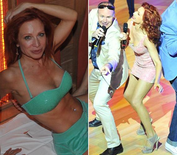 Détár Enikő február végén töltötte be az 50. életévét. A színésznő is kirobbanó formában van, ezt a Mamma Mia! című darabban is bizonyítja.