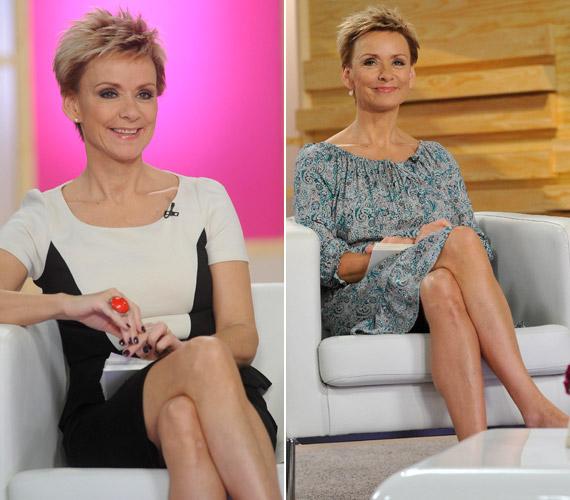 Jakupcsek Gabriella műsorvezető formás lábaival mindig nagy feltűnést keltett - nincs ez másképp 51 éves korában sem.