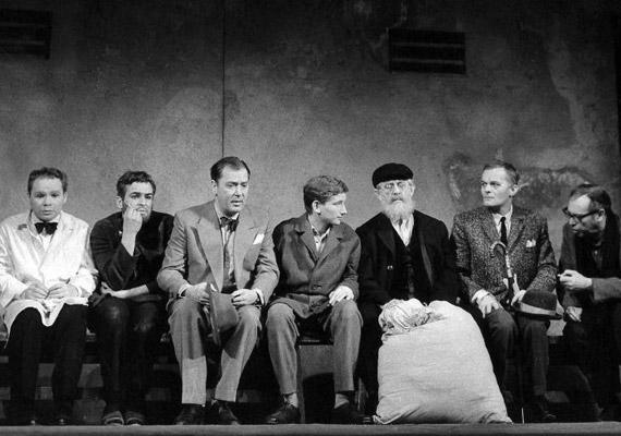 Az első vígszínházi szerepe 1965-ben, 17 évesen, a Közjáték Vichyben című Miller-darabban. Illusztris társaságban lépett színpadra: Kern András középen, bal oldalon Harkányi Endre, Latinovits Zoltán és Benkő Gyula, jobb oldalon Pethes Csaba, Darvas Iván és Várkonyi Zoltán.