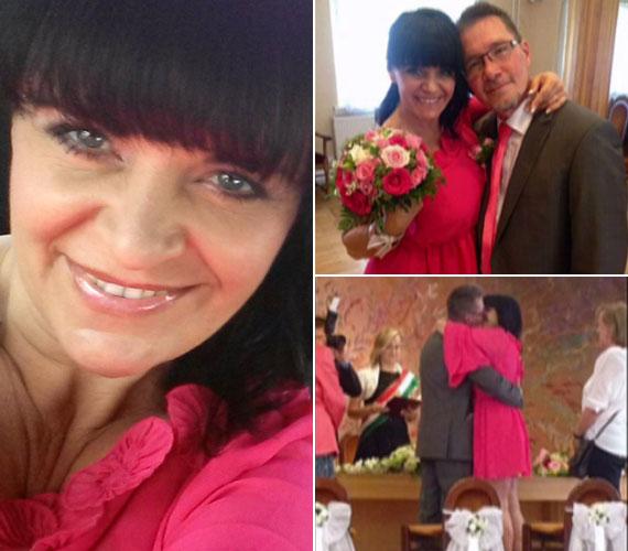 Szandi nővére, Pintácsi Viki énekesnő, fotóművész június 20-án kelt egybe párjával, Ivánnal egy zártkörű, szűk ceremónián. A 44 éves sztárnak ez a harmadik esküvője, pinkben állt oltár elé.