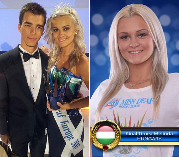 A 19 éves nagybányai lány Szabó Gergely hallássérült divattervező ruhájában vette át a koronát.