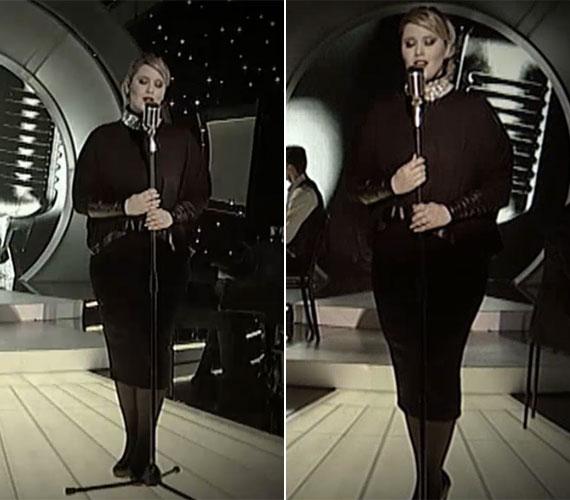 Az M1 SzerencseSzombat című műsorának elmúlt hétvégi adásában mind a ceruzaszoknya, mind a felső jó döntés volt, emellett az operatőrök értették a munkájukat, egyetlen előnytelen beállítású felvétel sem készült az énekesnőről.
