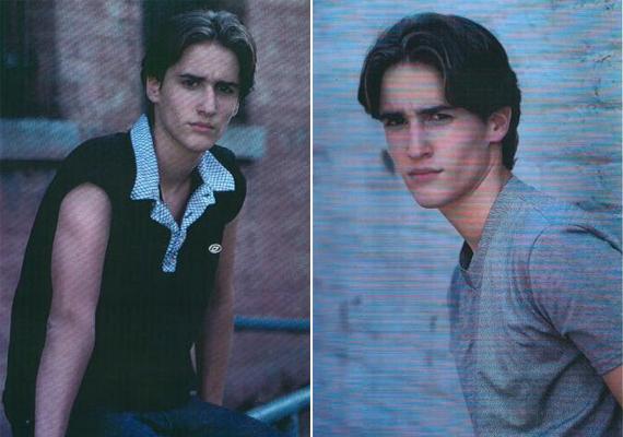 Kamaszkori fotók a popsztárról, a 2000-es évek elejére jellemző frizuratrenddel.