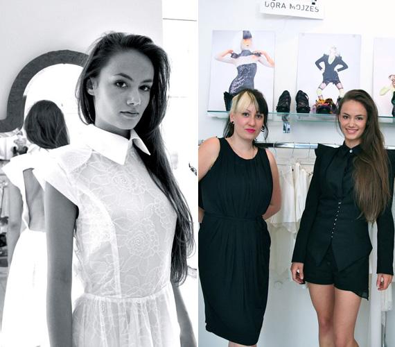 A különdíjas Blénessy Ágnes Gréta nyereménye mellett ellátogathatott Mojzes Dóra bemutatótermébe, ahol az év divattervezője néhány tanács mellett segített a ruha kiválasztásában is.