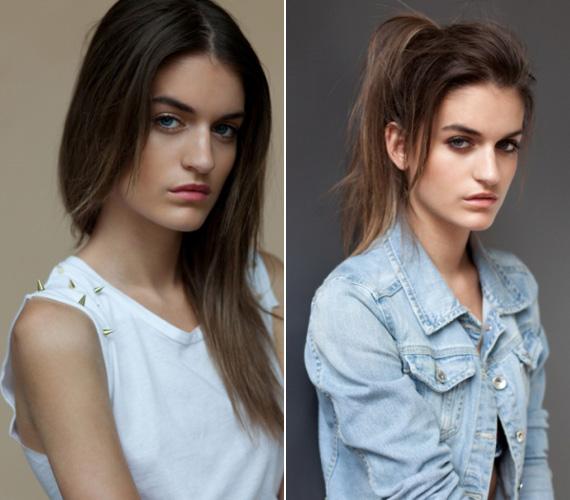 A győztes Kiss Alexandra kevés sminkkel egy szép vonásokkal rendelkező fiatal lány.