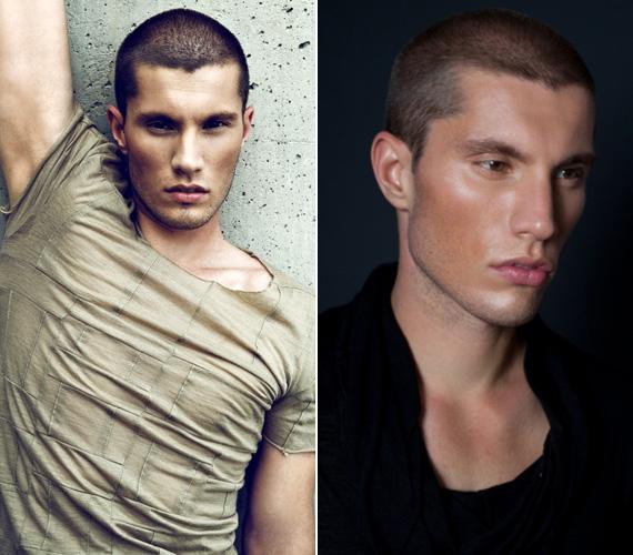 A fiúk közül Nagy Árpád lett az év szupermodellje. A két felvételt összevetve jól látható, mennyit változtatnak egy arcon a beállítások és a megvilágítás.