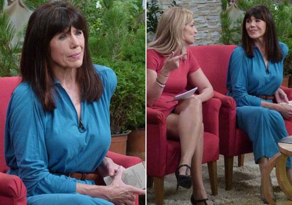 Kiss Mari a Család-barát Duna TV-n futó 2015. október 9-i műsorában mesésen nézett ki ebben a kék ruhában Novodomszky Éva műsorvezetőtársaként.