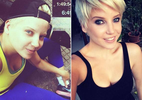 A 25 éves Szabó Zsófi többször is posztolt már arcáról olyan fotót, amelyen leheletnyi smink sincs rajta.