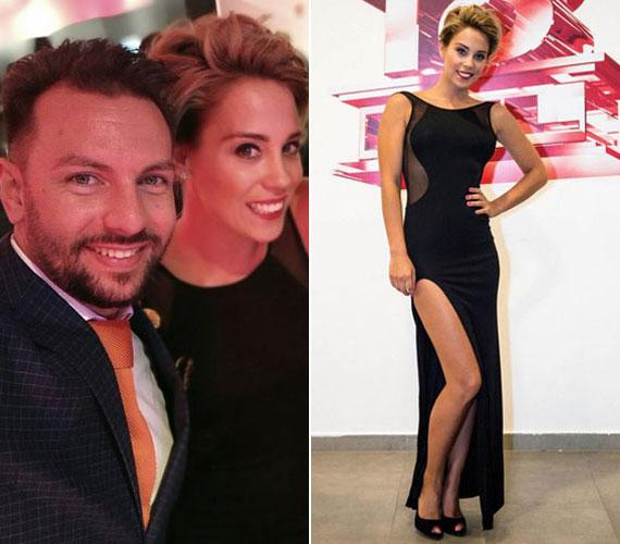 Kiss Ramóna az RTL Klub szeptemberi partiján egy testhezálló, combtőig felsliccelt estélyiben jelent meg. A feltűnő ruhához szájhangsúlyos sminket és laza kontyot választott.