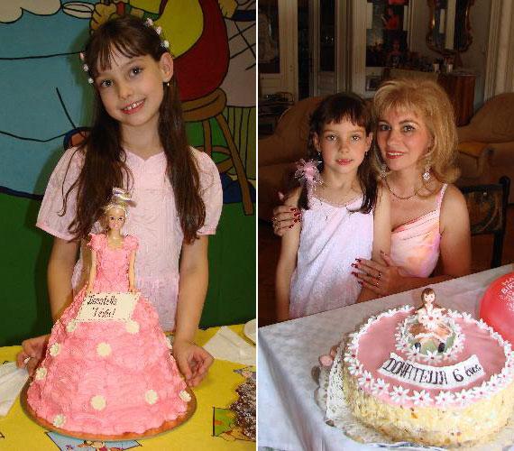 A 2008-ban és 2007-ben készült születésnapi fotót összehasonlítva jól látható, mennyit nőtt és komolyodott egy év alatt.