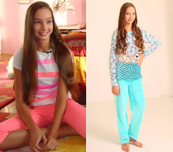 Édesanyja a Facebook-oldalán már közzé is tett néhány werkfotót Donatella pizsamakatalógus-fotózásáról.