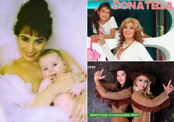 Kiszel Tünde első falinaptára 2002-ben jelent meg, Donatella akkor még a pocakjában volt. A következő évi kiadványokon a szemünk előtt cseperedett kisbabából kisgyerekké, majd tinédzserré.