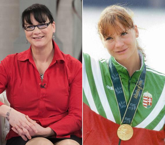 Kőbán Rita az M1-en március 11-én és 1996-ban, az atlantai olimpia aranyérmeseként.