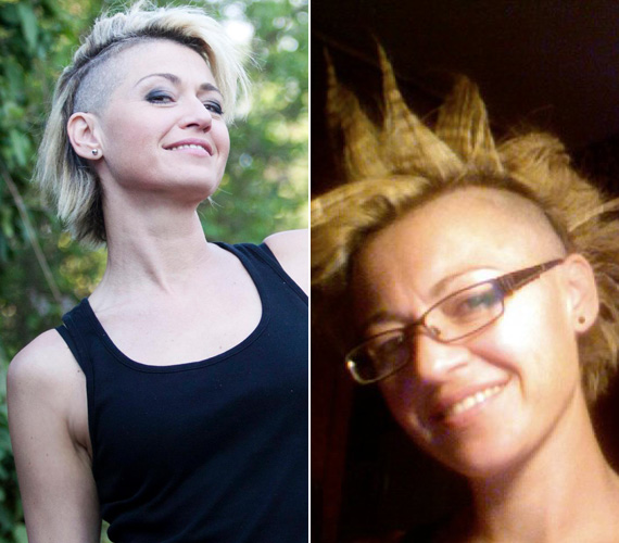 Punkos frizurájáról a Facebook-oldalára is töltött fel fotókat.