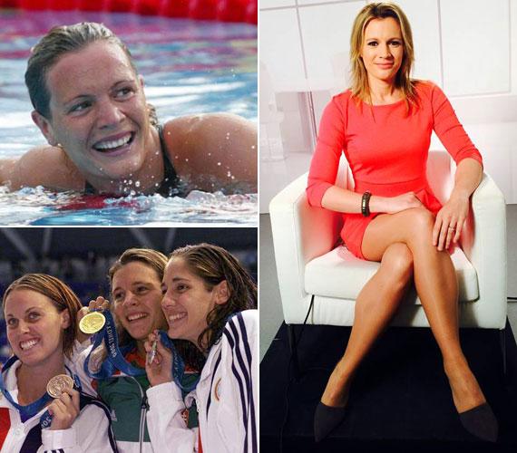 A 2000-es sydney-i olimpián 200 méter mellúszásban aranyérmet nyert sportoló miután anya lett, egyre nőiesebb külsővel mutatkozott. A jobb oldali kép 2014 áprilisában, az M1 délután talk show-jában készült.