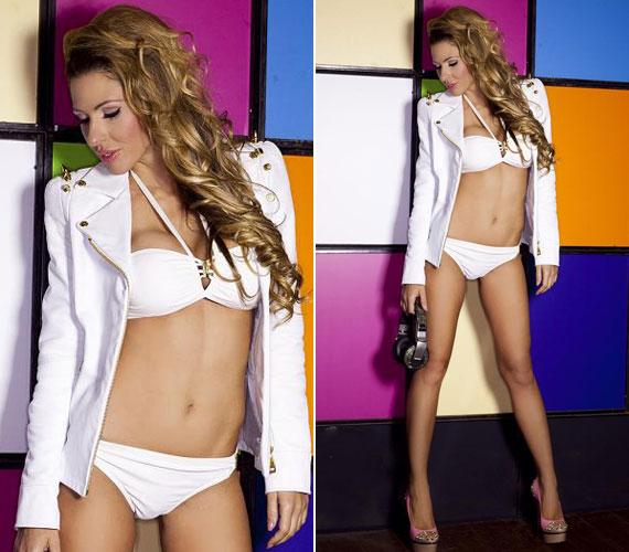 A 29 éves modell, aki az utóbbi időben külföldön elismert DJ-ként dolgozik, irigylésre méltó idomait bikiniben is megmutatta.