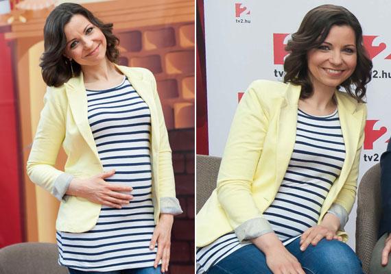Lajtai Kati büszkén mutatta meg a TV2 gyermek-tehetségkutatójának március 9-i sajtótájékoztatóján, hogy mekkora a babapocakja. Első gyermekét nyár közepére várja.