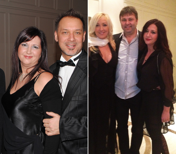 Szembetűnő a változás: a 2011-es Story-gálán Szőke Zoltánnal, illetve az idein barátnőjével, Kandász Andreával és annak férjével.