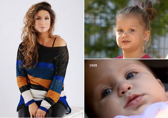 A 2003-as Miss Európa szépségverseny győztese, Laky Zsuzsi valamint a hároméves Luca és a nyolc hónapos Lujza.