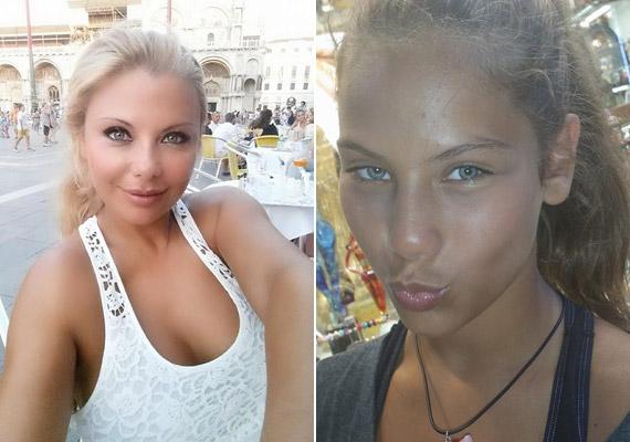Rába Tímea az 1991-es Miss Hungary szépségversenyen második helyezett volt. Lánya, Nina az elmúlt hétvégén lett 12 éves.
