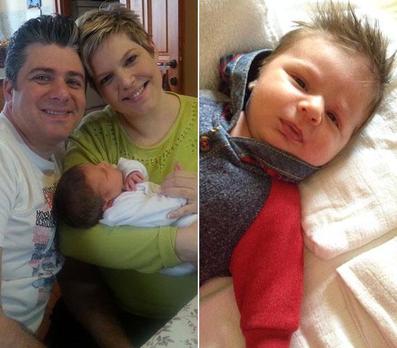 Az énekes sztárpár, Balássy Betty és Varga Feri a január 16-án világra jött Dániel Mátéról pár órával a szülés után már kitett egy fotót, melyet számos újabb követett.