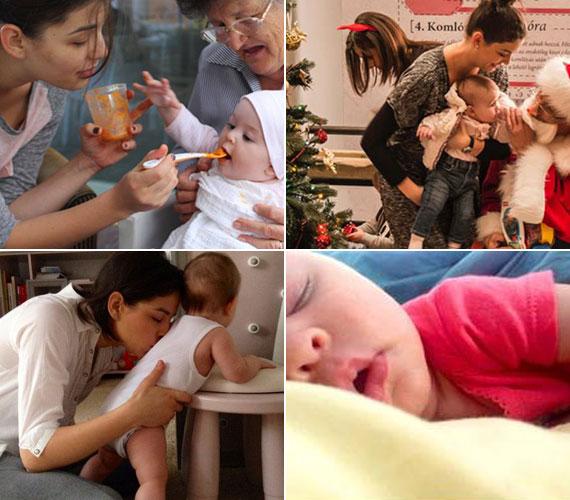 A 2013. május 6-án született kis Nánási Miciről egy ideje édesapja rendszeresen oszt meg az oldalán felvételeket, de édesanyja, Ördög Nóra is megmutatja havonta egyszer a babablogjában.
