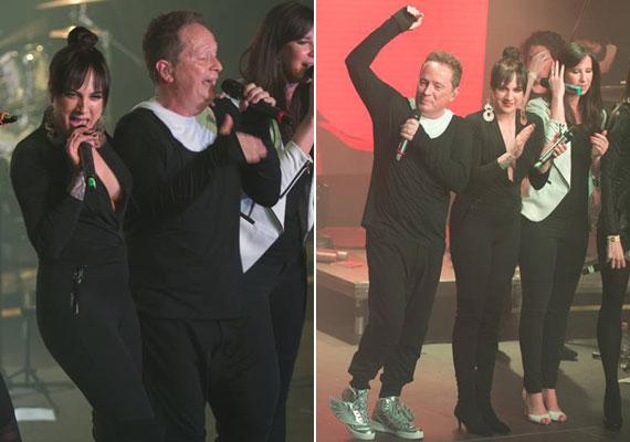 Tóth Gabi közel egy hónap alatt öt kilót fogyott, alakját nem is takargatta a Létvágy lemezbemutató koncertjén: az énekesnő testhezálló ruhában mutatta meg, milyen jól érzi magát a bőrében.