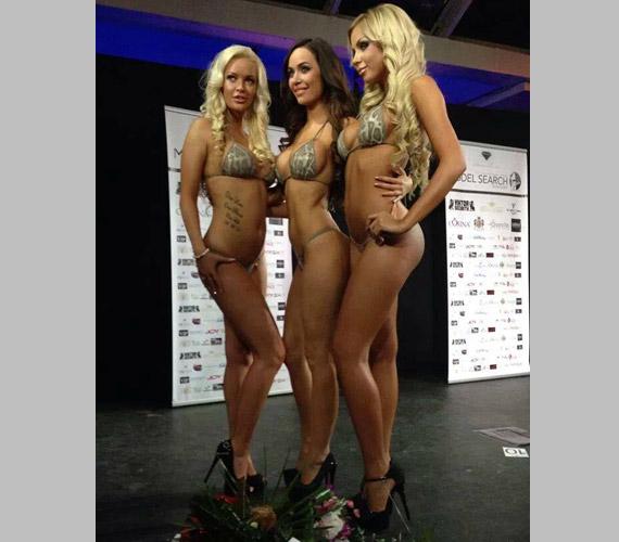 A Bikini Model Search Hungary első három helyezettje.